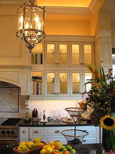 In and under cabinet lighting adds ambience to kitchens.