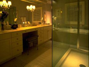 A combination of bathroom lighting options makes the room truly yours.