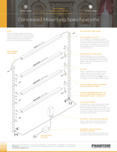 Concealed Mounting Specifications