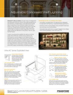 Ultra Adjustable Concealed Shelf Lighting