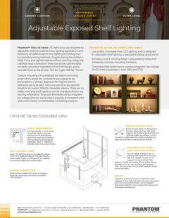 Ultra Adjustable Exposed Shelf Lighting