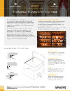 Ultra Horizontal Mount Shelf Lighting
