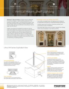Ultra Vertical Mount Shelf Lighting – VM Series